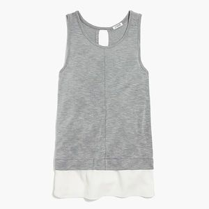 J.Crew Drapey tank top with silky hem